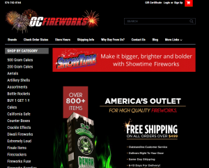 OCFireworks Website